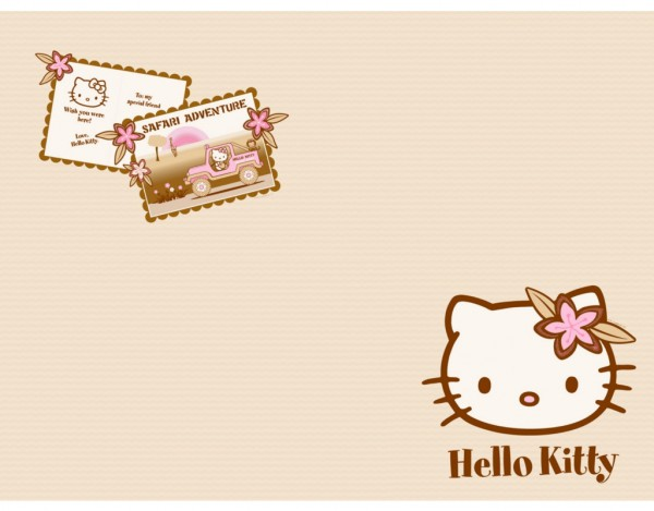 Korkboden hello kitty  Korkboden Fertigparkett Hello Kitty Safari | CO0017