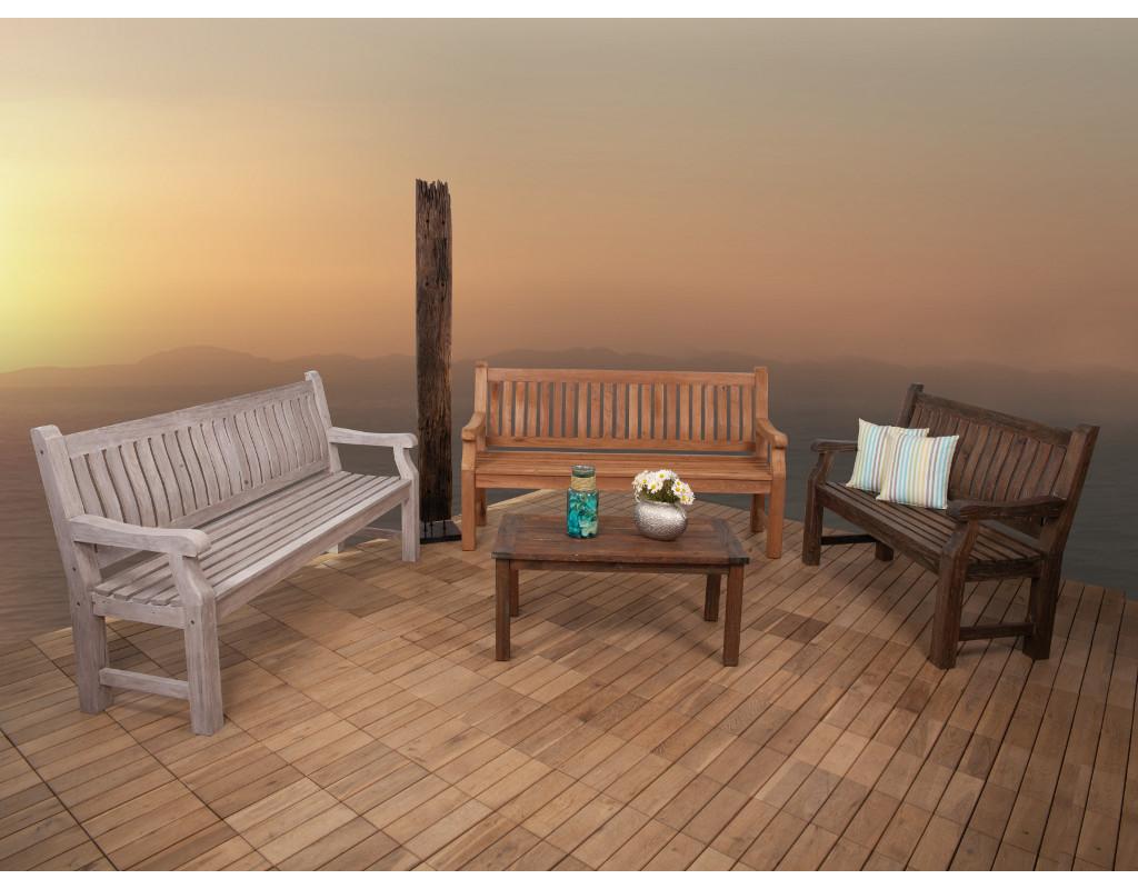 landhausbank chateau 2 sitzer teak natur di0134. Black Bedroom Furniture Sets. Home Design Ideas