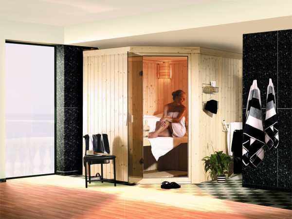 Sauna Systemsauna SPARSET Celine 1 inkl. 9 kW Ofen mit integr. Steuerung