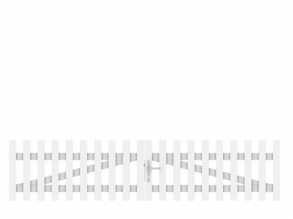 Vorgartenzaun LONGLIFE CARA Doppeltor Weiß
