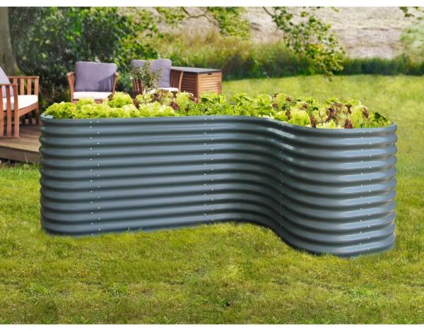 erweiterung curve f r hochbeet vitavia dunkelgrau pe0380. Black Bedroom Furniture Sets. Home Design Ideas