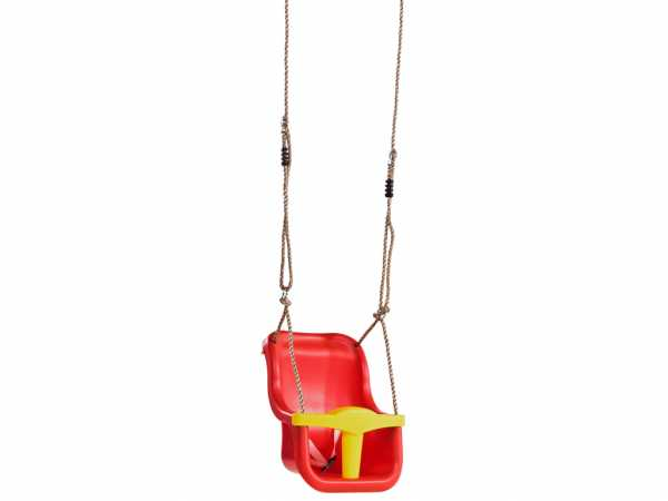 Schaukelsitz Babyschaukel Luxe rot/gelb