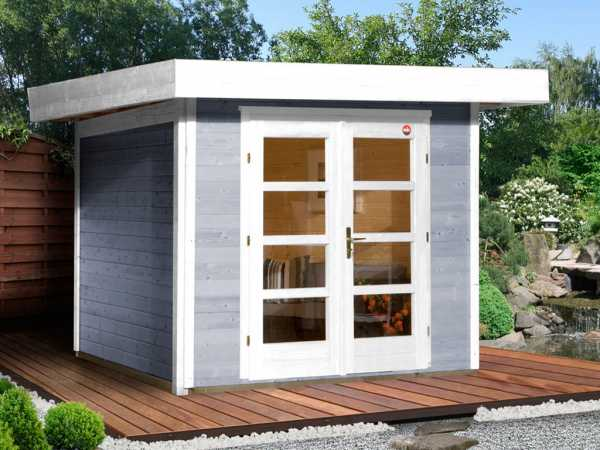 Gartenhaus Designhaus 126 Gr. 1 28 mm grau