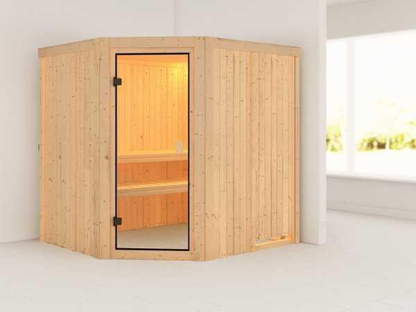 Sauna Systemsauna SPARSET Celine 1 inkl. 6,8 kW Ofen mit int. Steuerung