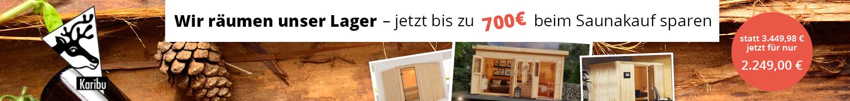 Sauna Lagerabverkauf