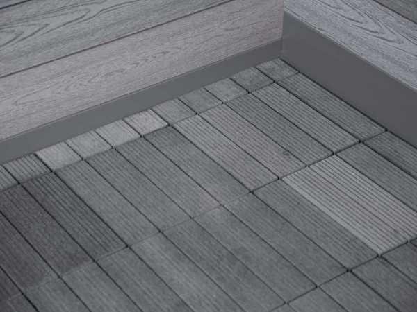 WPC-Fußboden für Gerätehaus Trend D