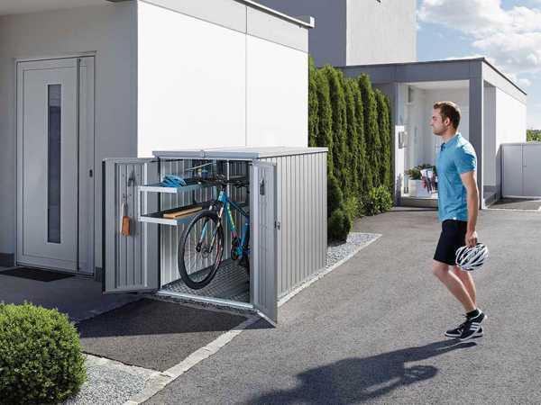 Fahrradgarage MiniGarage silber-metallic