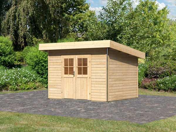Gartenhaus Moosburg 2 PREMIUM 40 mm naturbelassen