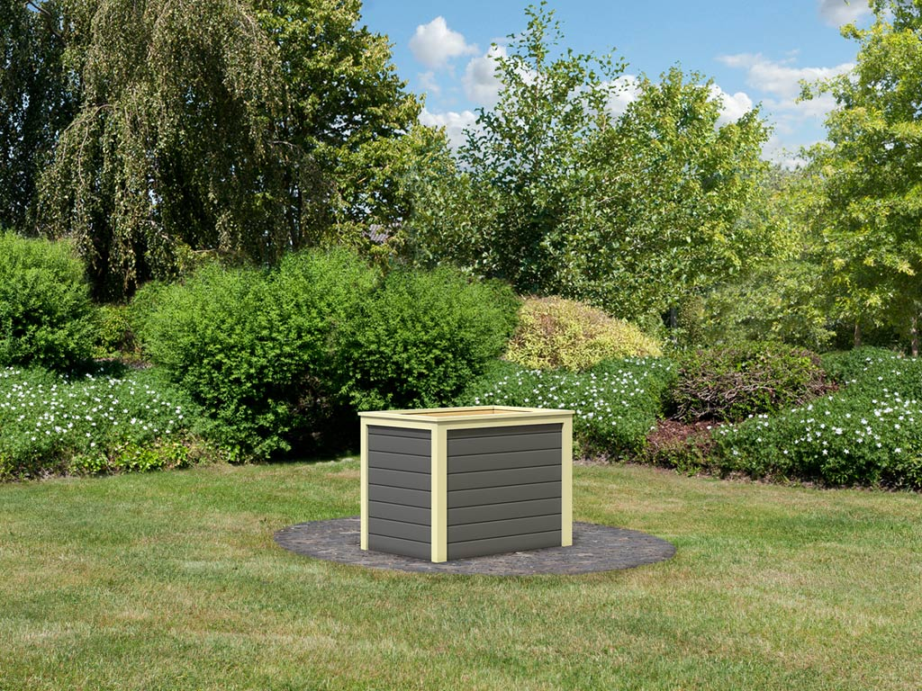 hochbeet 0 19 mm terragrau hochbeet gew chshaus garten holzprofi24. Black Bedroom Furniture Sets. Home Design Ideas