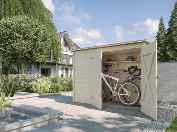 Fahrradbox / Mülltonnenbox 367 19 mm naturbelassen
