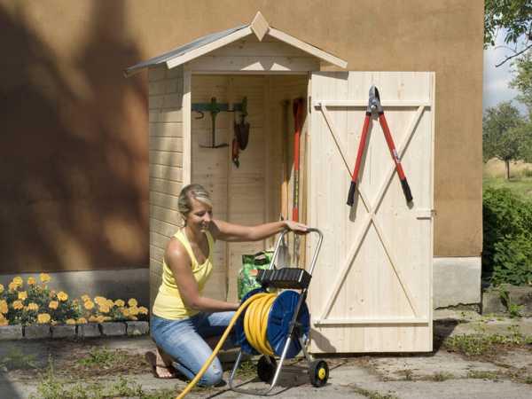 Garten-/Terrassenschrank 351 14 mm naturbelassen