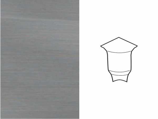 Innenecke für Sockelleiste Profil SKL 22/50 Edelstahl-Optik