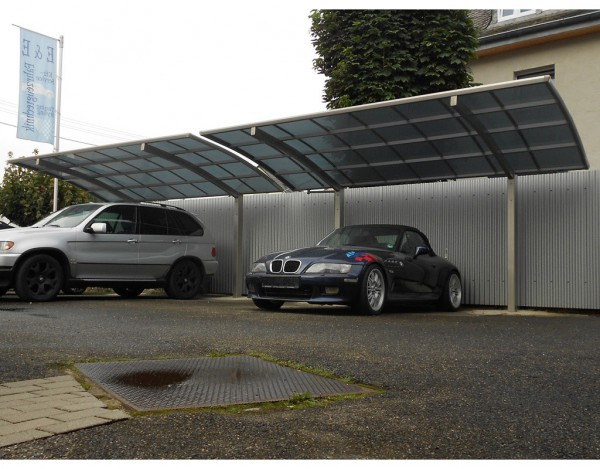 Carport Portoforte Typ 80 Tandem Edelstahl-Look