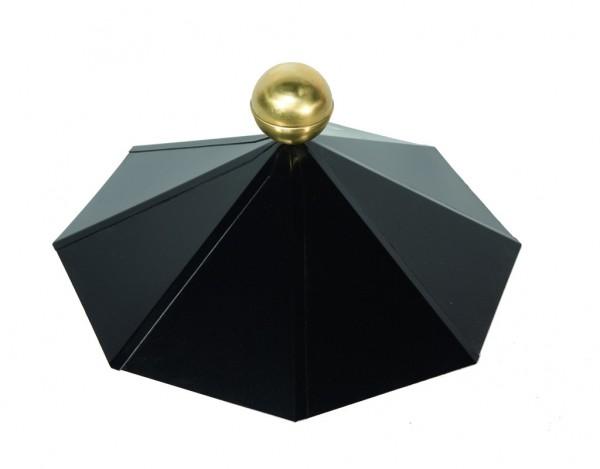 Dachhaube schwarz 8-eckig