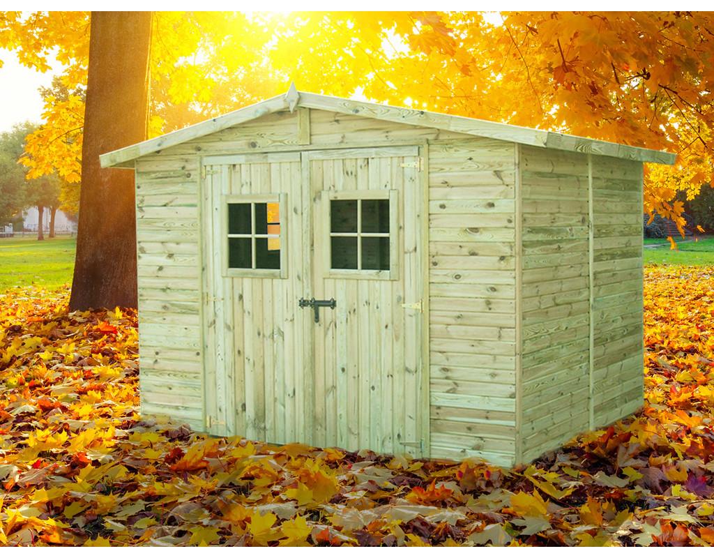 gartenhaus sparset torino 3 inkl schindeln rot 762310. Black Bedroom Furniture Sets. Home Design Ideas
