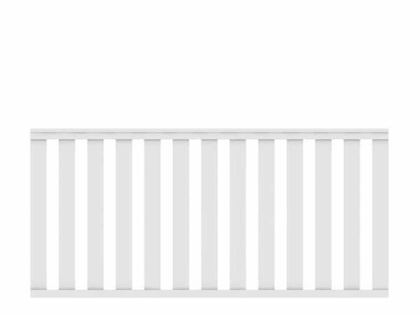 Vorgartenzaun LONGLIFE CLEO Hauptelement Weiß