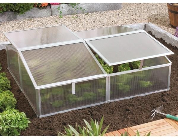 "Frühbeet ""Gaia 2X"" HKP 4 mm 1,2 m², aluminium"