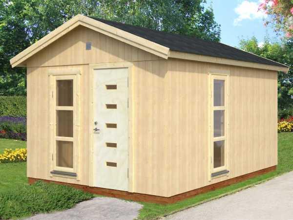 Gartenhaus Ly 13,6 m² 18+70 mm naturbelassen