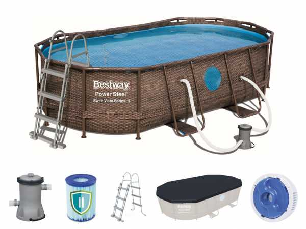 Frame Pool Power Steel Poolset - Swim Vista Series