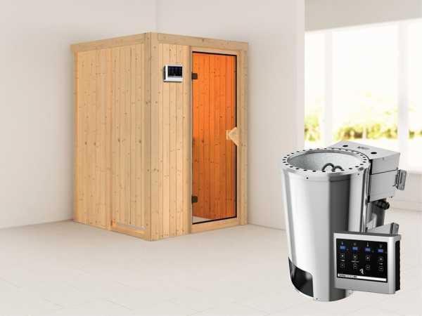 Sauna Systemsauna Lenja inkl. Plug & Play Bio-Ofen externe Steuerung