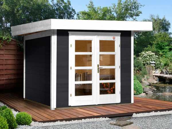 Gartenhaus Designhaus 126 Gr. 1 28 mm anthrazit