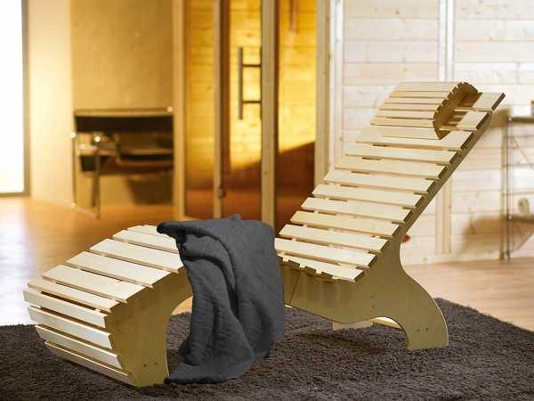 Komfort Wellnessliege inkl. Saunatuch
