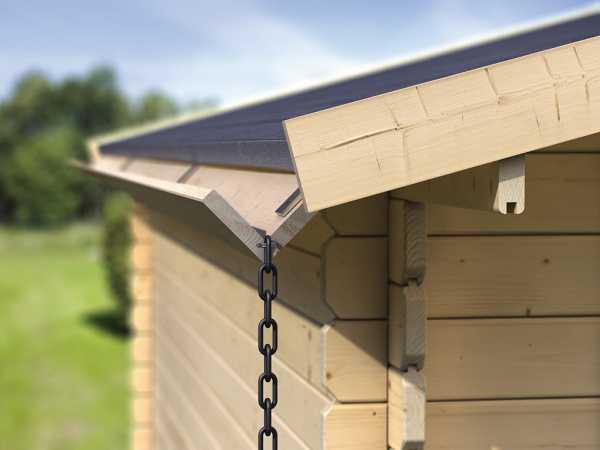 Holzdachrinnen-Set Verlängerung für Flachdächer, kdi
