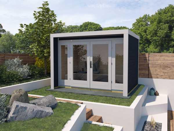 Gartenhaus Designhaus 263 Gr. 2 28 mm anthrazit lasiert