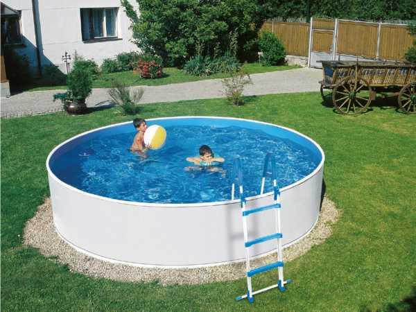 Stahlwandpool Poolset Splash rund Ø 360 cm