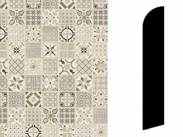 Sockelleiste Retro Black White Dekor