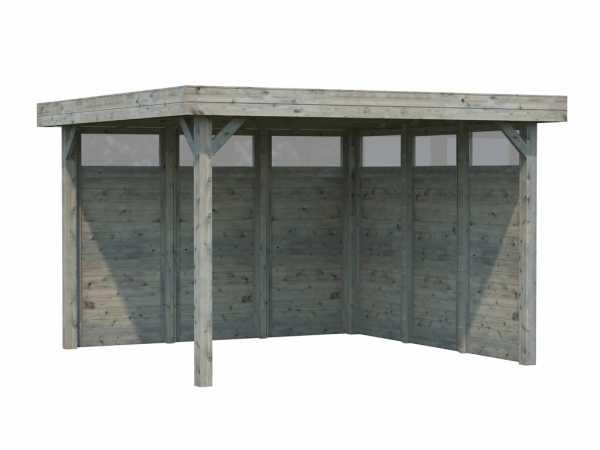 Pavillon Lucy 12,2 m² grau tauchimprägniert