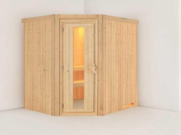 Sauna Systemsauna Lilja Energiespartür