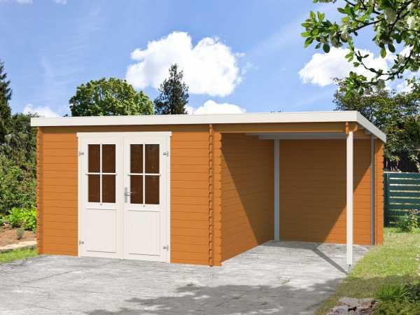 Gartenhaus Blockbohlenhaus Tampa 28 mm eiche