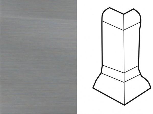 Außenecke für Sockelleiste Profil SKL 22/50 Edelstahl-Optik