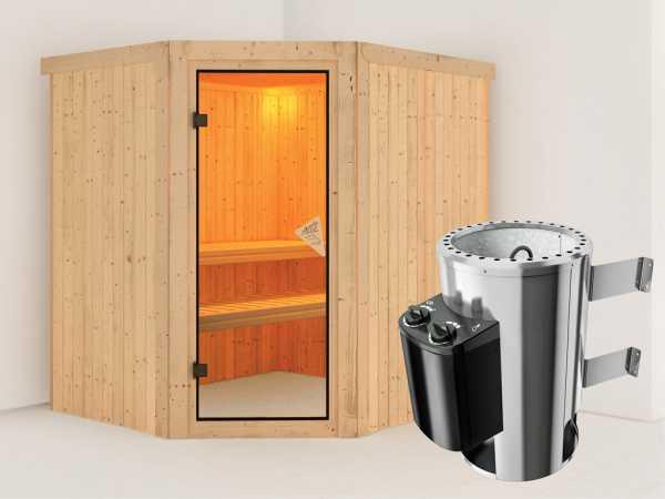 Sauna Systemsauna Lilja inkl. Plug & Play Saunaofen Steuerung