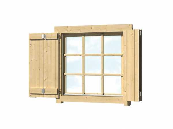 Fensterladen für Gartenhaus Einzelfenster 54 x 54 cm