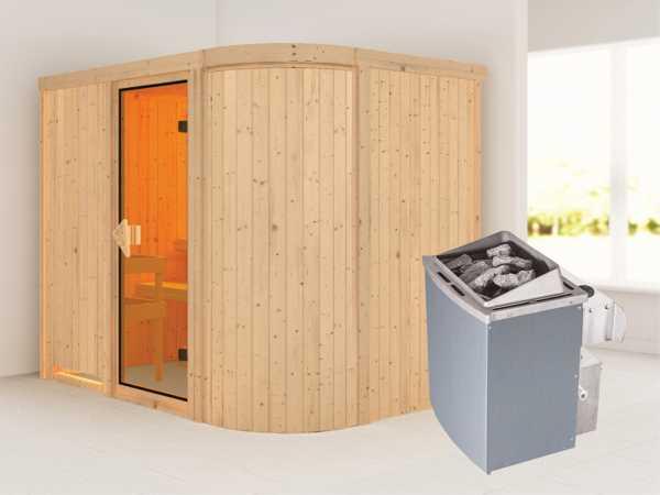 Sauna Systemsauna Titania 4 inkl. 9 kW Saunaofen integr. Steuerung