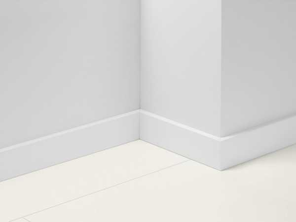 Sockelleiste Uni weiß Dekor foliert SL18