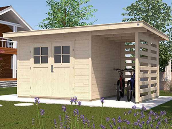 Gartenhaus 179 A Gr. 2 28 mm naturbelassen