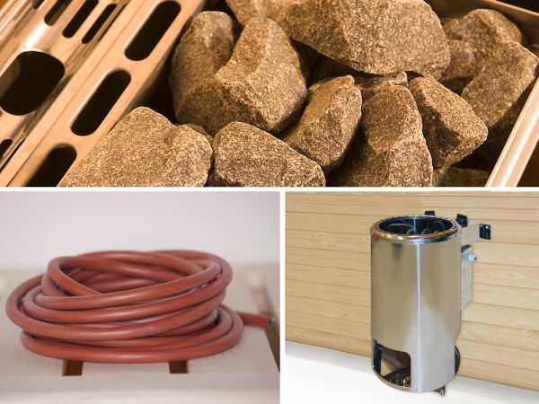 Saunaofen Set 9 Kompakt 3,6 kW inkl. integrierte Steuerung + Anschlusskabel