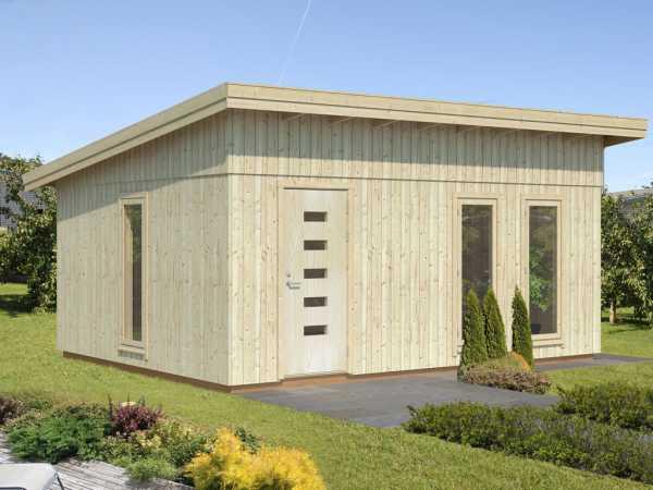 """Gartenhaus Blockbohlenhaus """"Annika"""" 21,5 m² 18+95 mm naturbelassen"""