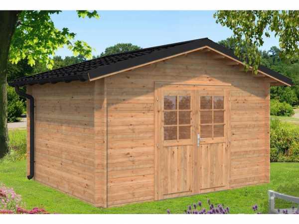 Gartenhaus Blockbohlenhaus Tina 10,4 m² 34 mm braun tauchimprägniert
