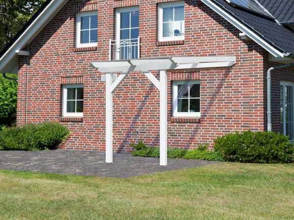 Terrassenüberdachung Modell 3 Schneeweiß