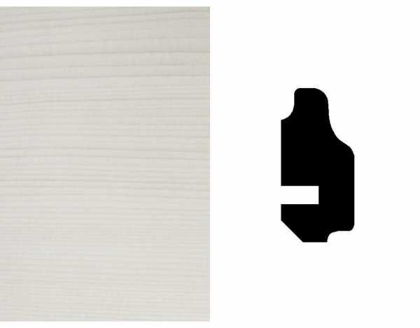 Wand- und Deckenleiste, Fichte astig, weiß transparent