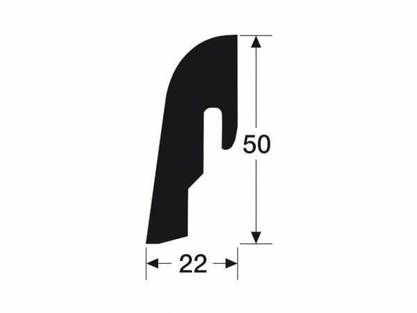 Sockelleiste Ahorn weiß 2213 Profil 2 PK Dekor