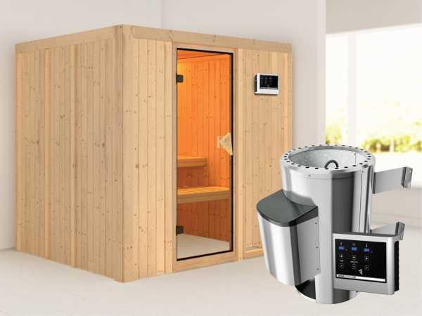 Sauna Systemsauna Daria inkl. Plug & Play Saunaofen externe Steuerung