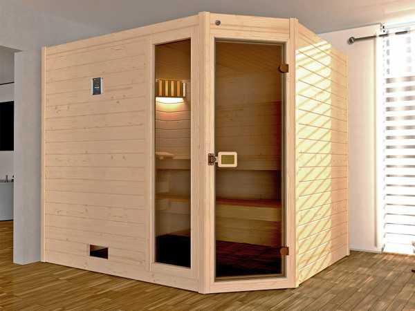 WE-Sauna SPARSET Valida Eck 3 GTF + 7,5kW Ofen