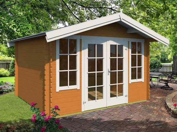 Gartenhaus Blockbohlenhaus Kalmar 330 28 mm eiche