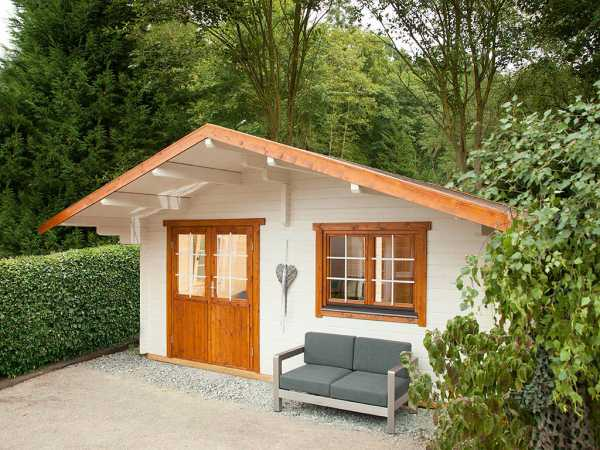 Gartenhaus Blockbohlenhaus Lappland 70-C 70 mm naturbelassen