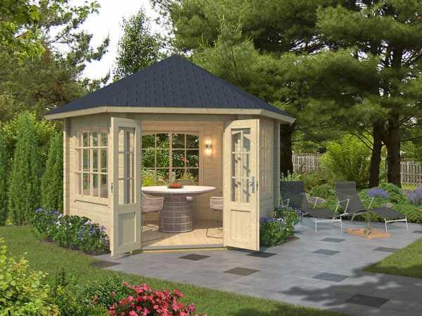 Pavillon Gartenlaube Ilmenau naturbelassen